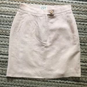 Baby pink high-waisted pencil skirt, size 2 petite